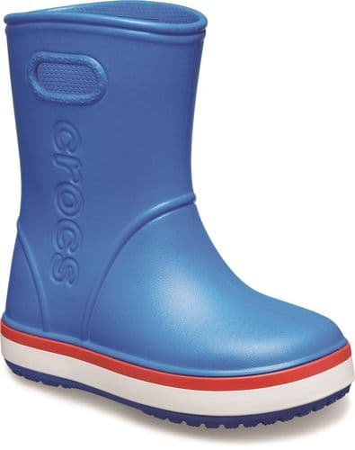 Crocs Crocband Rainboot Childrens Wellingtons Mid Blue